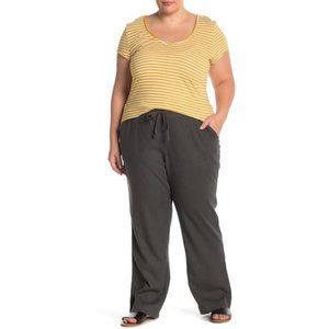 Caslon Linen Blend Drawstring Pants